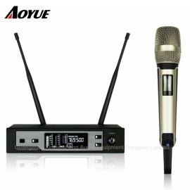 Profesyonel Sahne UHF Gerçek çeşitlilik Tek Kanallı SKM9100 Kulaklık Kablosuz Mikrofon