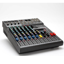 Built-in 36-bit DSP digital effects with MP3 Bluetooth EF822XU 8 channel pro audio mixer