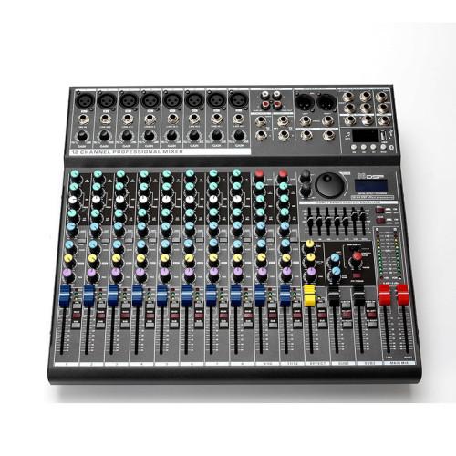 Procesador de sonido digital DSP de 12 canales digital Phantom 48v mezclador de audio musical con bluetooth