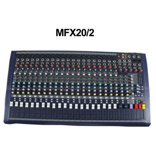 20 canali 3 Band audio integrato nella console mixer dj digitale effetto DSP MFX20 / 2