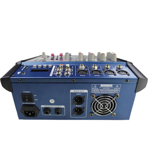 economico prezzo musica dj interfaccia usb digitale PMX402D mixer audio con 4 canali