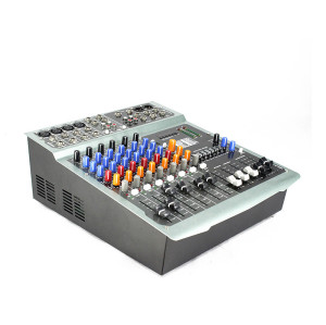 Multi functional build-in power amplifier DJ audio PV8P USB sound mixer with MP3