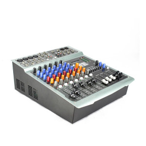 Multi functional DJ audio PV8P USB active powered sound mixer build-in amplifier