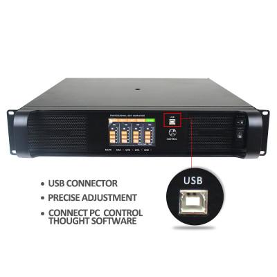 DSP FP serie 4 canali 1300 watt FP6000q collegati all'amplificatore di potenza del PC DSP6000Q