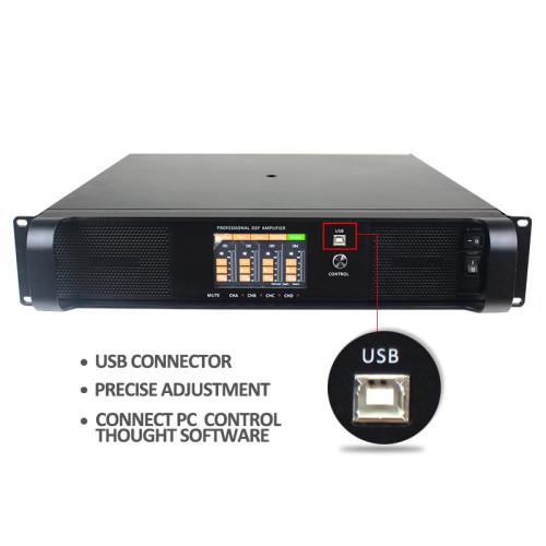 DSP FP series 4 canales 1300 vatios FP6000q se conectan al amplificador de potencia para PC DSP6000Q