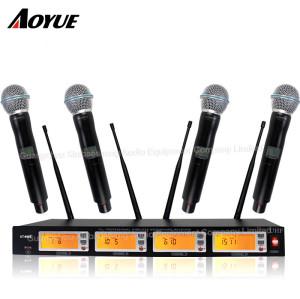 Sonido perfecto de uno a cuatro canales de conferencia inalámbrica profesional micrófono dinámico auricular