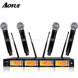 Mükemmel ses bir ila dört kanallı profesyonel kablosuz konferans dinamik kulaklık mikrofon