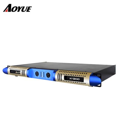 Nuovo design 1200w 1 u classe D digitale K-1200 amplificatore di potenza con 2 canali