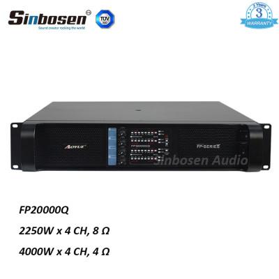 Sinbosen FP20000Q 4000 vatios 4 canales amplificador de potencia bajo profesional doble subwoofer de 18 pulgadas