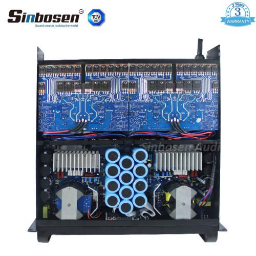 Sinbosen FP20000Q 4000 Watt 4-Kanal-Profi-Bass-Leistungsverstärker Dual-18-Zoll-Subwoofer