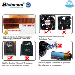 Sinbosen FP20000Q 4000 watt 4 channel professional bass power amplifier dual 18 inch subwoofer