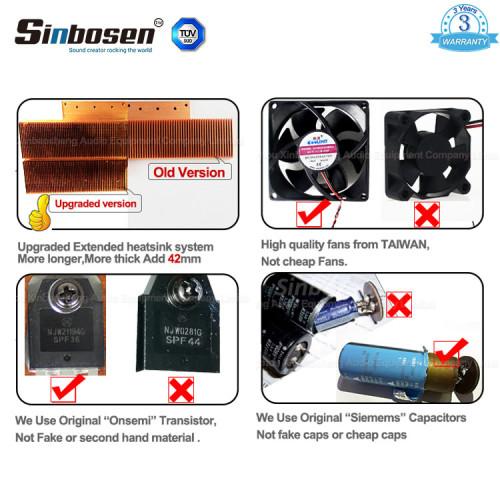 Sinbosen FP20000Q 4000-watowy 4-kanałowy profesjonalny basowy wzmacniacz mocy z podwójnym 18-calowym subwooferem