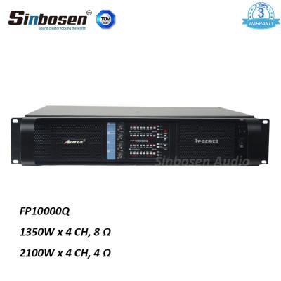 Sinbosen FP10000Q 1350 watt 4 kanal professionelle klon lab china endverstärker für dual 15 zoll lautsprecher