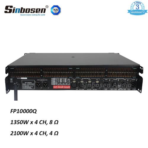 Sinbosen FP10000Q 1350w amplificatore di potenza professionale a 4 canali per clone lab in Cina per doppio altoparlante da 15 pollici