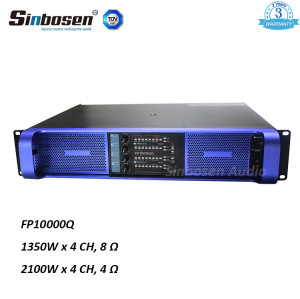 Sinbosen FP10000Q 1350w 4 channel professional clone lab china power amplifier for dual 15 inch speaker