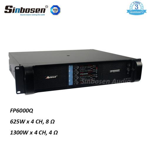 Sinbosen FP6000Q 1300w 4 canali dj modalità di alimentazione professionale alimentazione amplificatore di potenza