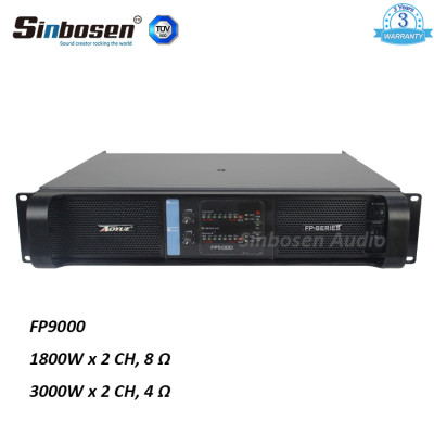 Sinbosen FP9000 amplificatore di potenza sonoro stereo a due canali 3000w con CE Rohs