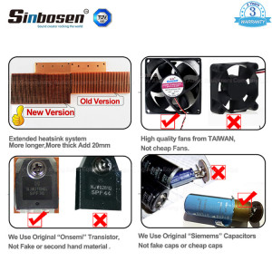 Sinbosen FP9000 3000w stereo two channel sound power amplifier with CE Rohs