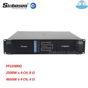 Sinbosen FP22000Q 4650w 4-kanałowy najmocniejszy profesjonalny wzmacniacz mocy do 21-calowego subwoofera