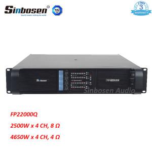 Sinbosen FP22000Q 4650w 4-канальный профессиональный усилитель мощности для 18-дюймового / 21-дюймового сабвуфера
