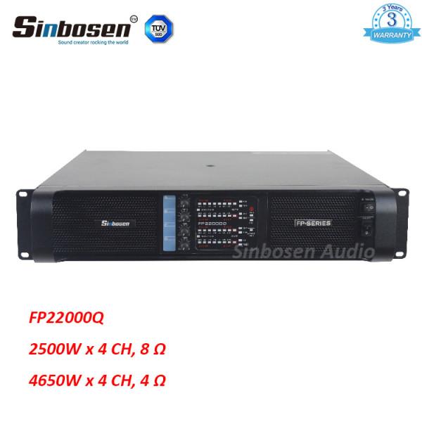 Sinbosen FP22000Q 4650w Amplificatore di potenza professionale a 4 canali per subwoofer da 18 pollici / 21 pollici