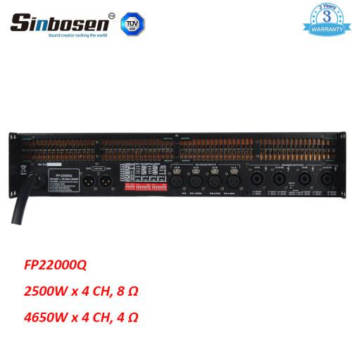 Sinbosen FP22000Q 4650w 4-kanałowy profesjonalny wzmacniacz mocy dla 18-calowego / 21-calowego subwoofera
