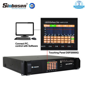 Sinbosen DSP20000Q 2200w 4 channel professional DSP 20000q power amplifier for subwoofer