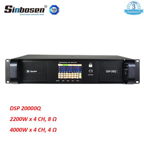Sinbosen DSP20000Q 2200w 4 Kanal professionelle DSP 20000q Leistungsverstärker für Subwoofer