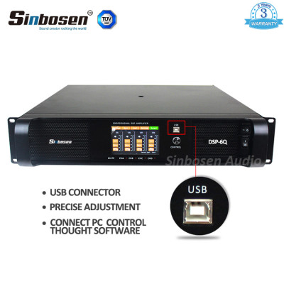 DSP FP series 4 channel 1300 watt FP6000q connect to the PC power amplifier DSP6000Q