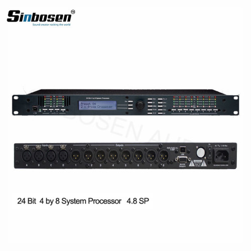 Ashely 4-In x 8-Out DSP professionale processore audio digitale karaoke 4.8sp per sistema PA