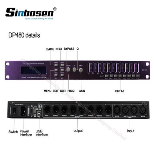 Processore audio digitale DSP karaoke a doppia uscita 4 input 8 output DP480 / DP448