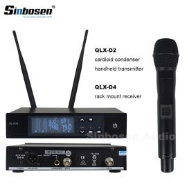 UHF Dijital Tek Kablosuz El Mikrofonu Sistemi QLXD4 + QLXD2 / SM-58