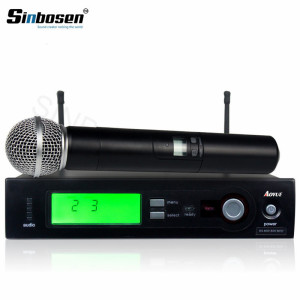 High quality Wireless cordless Live Vocals wireless receiver handheld Microphone SLX4/SM-58