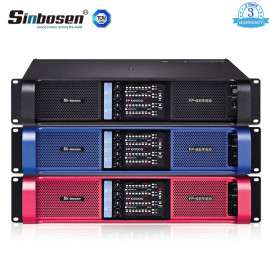 Sinbosen FP10000Q 2100w 4-kanałowa, ulepszona wersja, mocniejszy profesjonalny wzmacniacz mocy