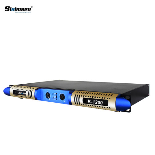 Nuevo diseño de potencia suave 1200w 1u clase D digital K-1200 amplificador de potencia con 2 canales