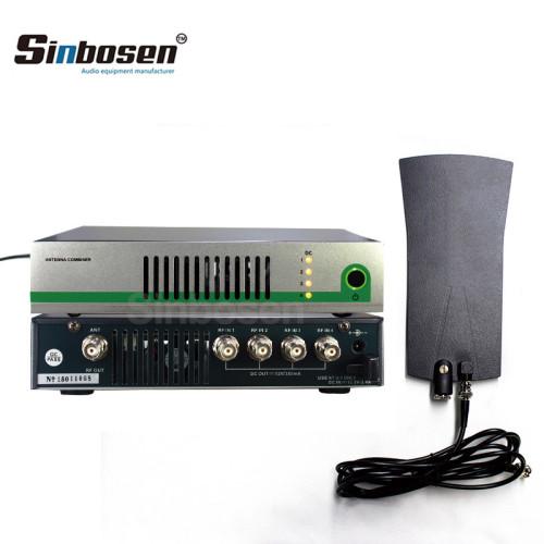 Combinador activo de antena para monitores IEM en el oído.