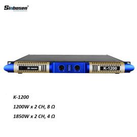 Nuovo design power 1200w 1u classe D digitale K-1200 amplificatore di potenza con 2 canali