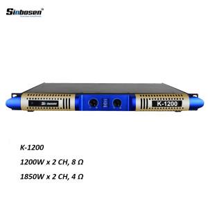 Nuovo design power power 1200w 1u classe D digitale K-1200 amplificatore di potenza con 2 canali