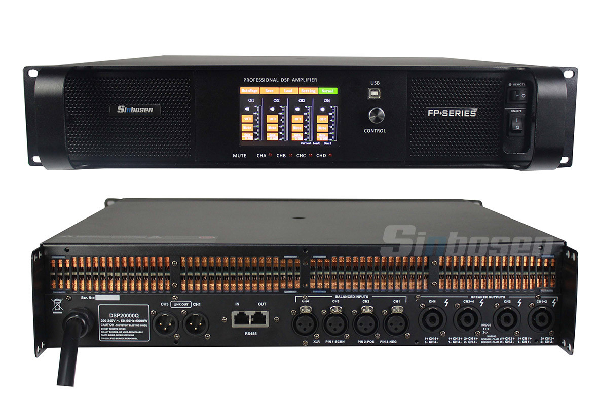 Sinbosen dsp power amplifier