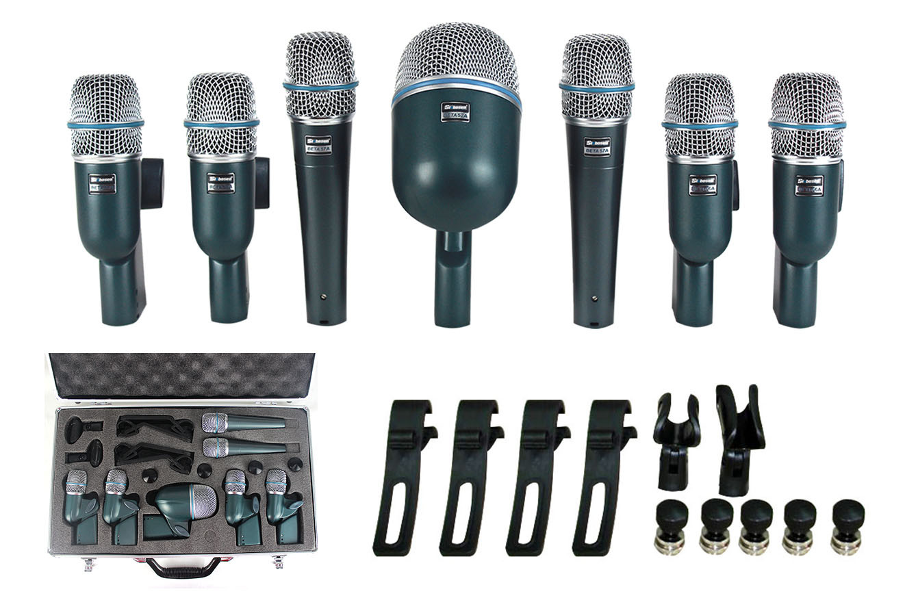 Drum microphone set