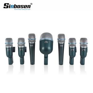 Profesyonel raf davul için 7 adet kondenser kayıt davul seti set enstrüman mikrofon