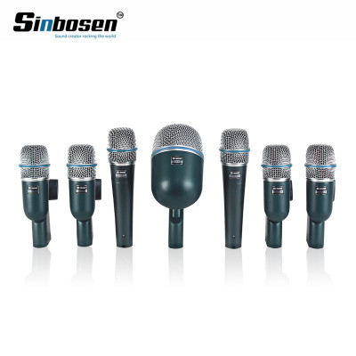 Kondensator-Aufnahmetrommel-Installationssatz-Satzmikrofon der Kondensator-7pcs für Berufsregaltrommel