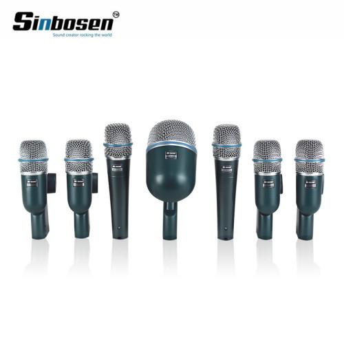 7-stopniowy zestaw bębna nagrywającego do nagrywania zestawu mikrofon instrumentalny do profesjonalnego bębna półkowego
