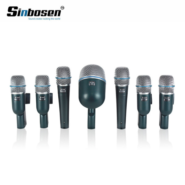 7pcs kit di batteria di registrazione del condensatore set strumento microfono per mensola professionale tamburo