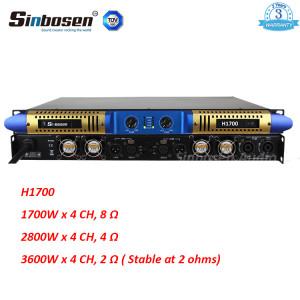 Sinbosen 2 ohm stable 3600 watts 2CH classe D amplificateur numérique haute puissance H1700