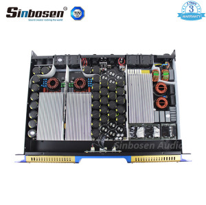 Sinbosen 2 ohm stable 3600 watts 2CH class d digital high power amplifier H1700