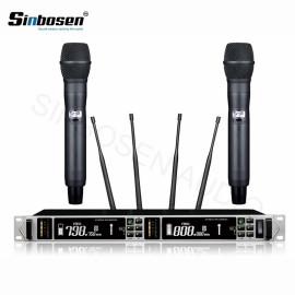 Yüksek hassasiyet kondenser kapsül 100 metre uzun menzilli AXT118D dijital kablosuz mikrofon