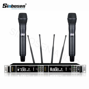 Dual channel digital condenser wireless microphone
