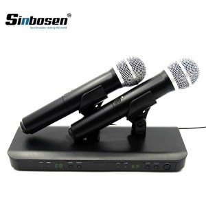 BLX Wireless Systems Dual Channel Receiver Handheld Microphone BLX288/PG58 Wireless System