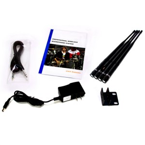 Ear-hook Headworn Headset Unidirectional UHF Microphone with Wireless Bodypack Transmitter